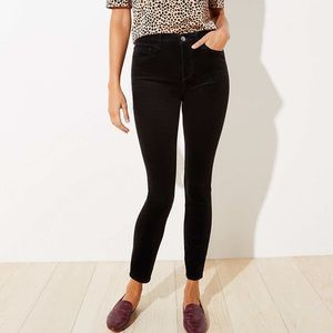 Ann Taylor LOFT Black Corduroy Modern Skinny